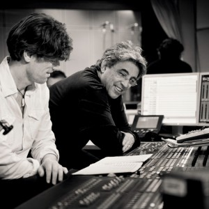 Ralf Schmid and Ivan Lins in the studio